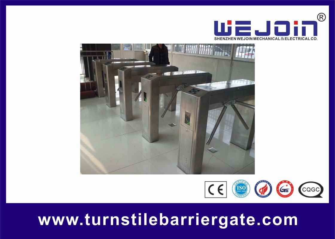 Stainless Steel Housing Automatic Tripod Turnstile Gate With Traffice Light Indicator προμηθευτής