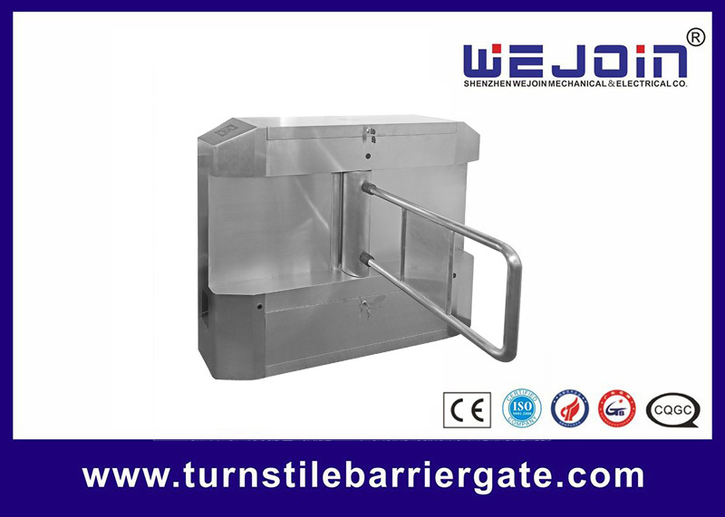 Acrylic plate Arm Turnstile Entry Swing Barrier Gate Systems With Dry Contact Interface προμηθευτής